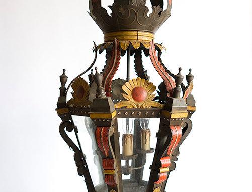 Italian zink chandelier