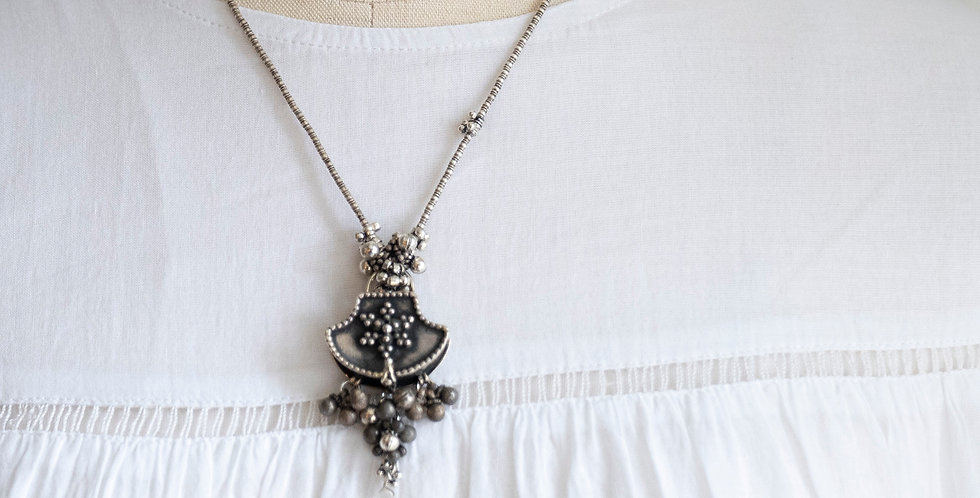 Minakusi Silver Box Necklace