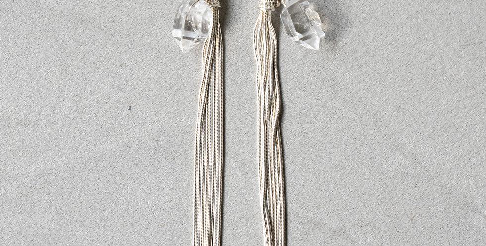 Minakusi  Antique 水晶とタッセルピアスPierce