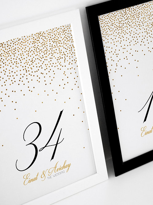 Sparkle & Shine Table Numbers