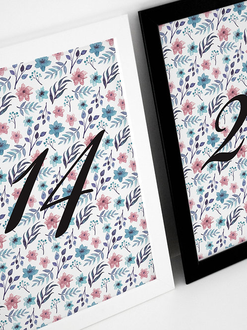 Something Blue Table Numbers