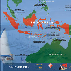 Sailing Route Plan DARWIN AUSTRALIA from MARINA DEL RAY Lombok Indonesia