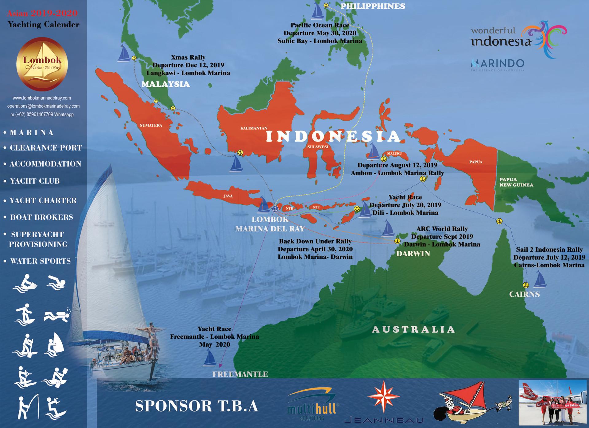 Lombok Marina Rally Map 2019_20