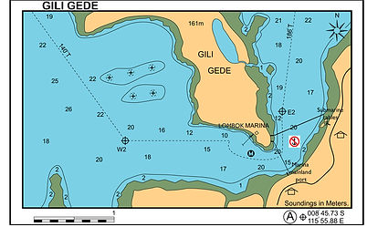 Marina Del Ray Port Gili Gede entrance c
