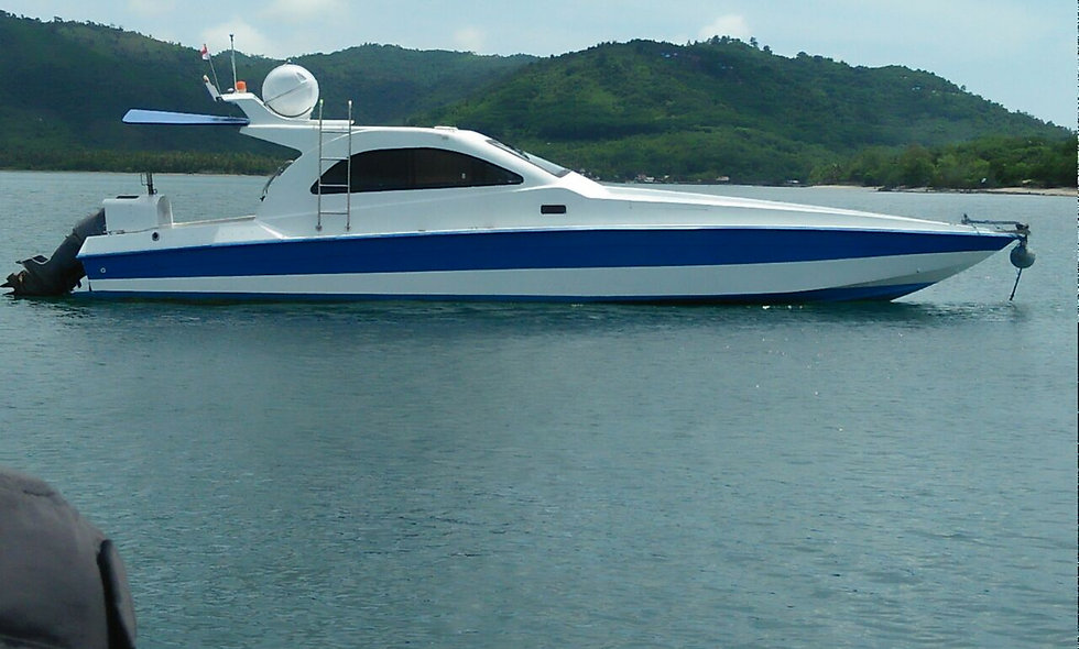 High Speed Ferry or private boat