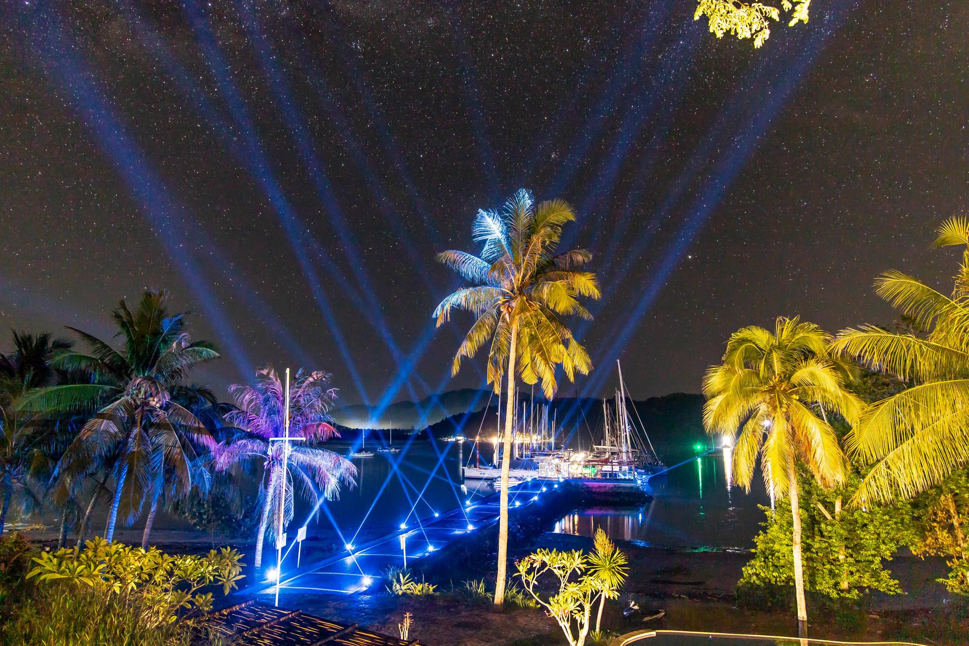Marina Del Ray View at night from the ba