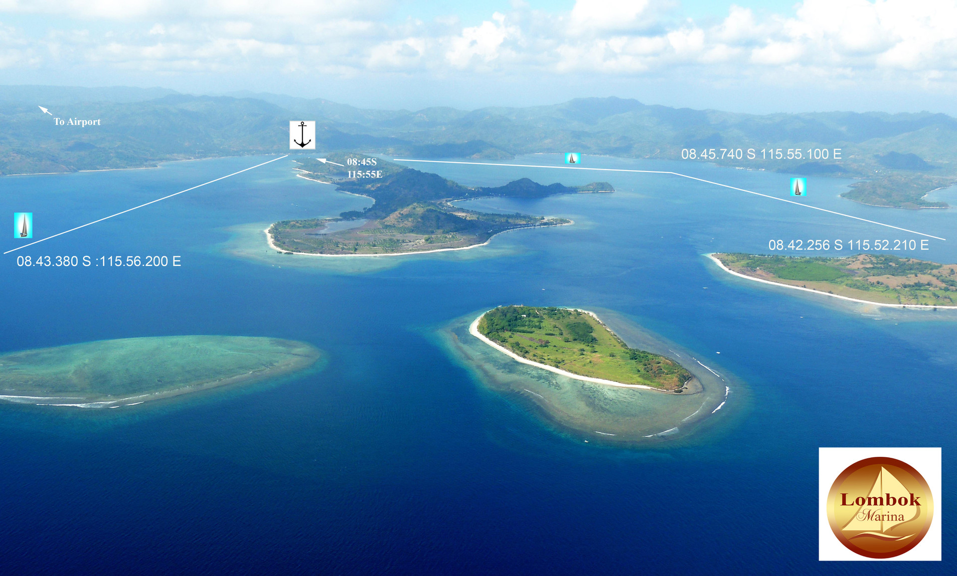 Lombok Marina Navigation Approaches