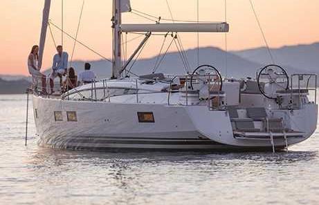 Jennua 51 at anchor Marina del Ray