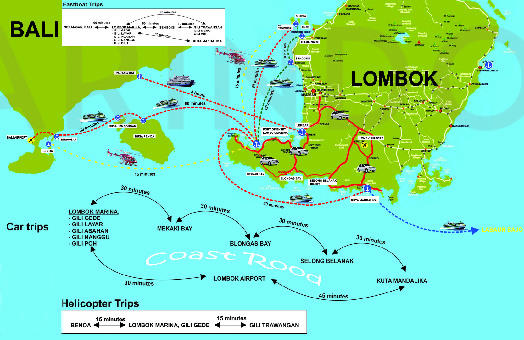 OUR FERRY ROUTES BALI LOMBOK
