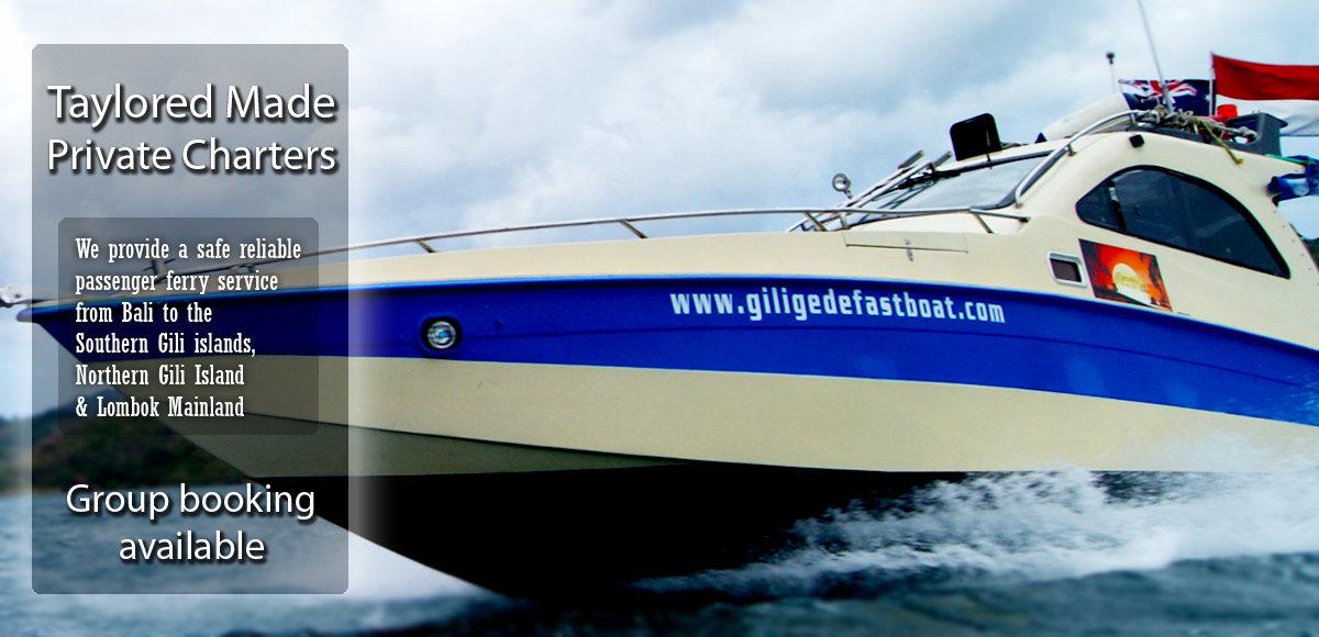 Private fast boat Hire Bali-Lombok return