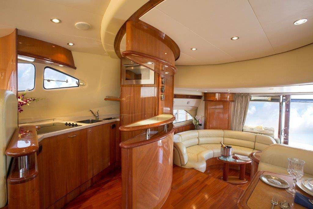 Inside a Indonesian Yacht charter