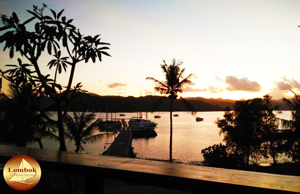 Sunset from Yacht club Lombok Marina Del