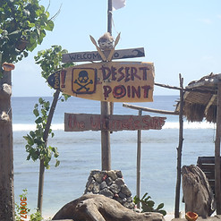 Desert Point surf from Gili Gede