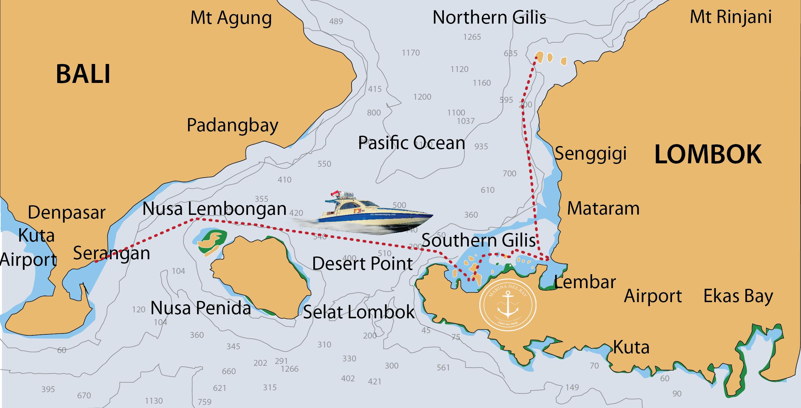One Way Ferry Ticket Bali - Gili Gede
