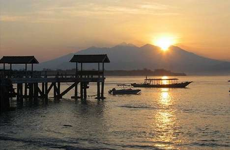 Sunset over Mt Rinjani