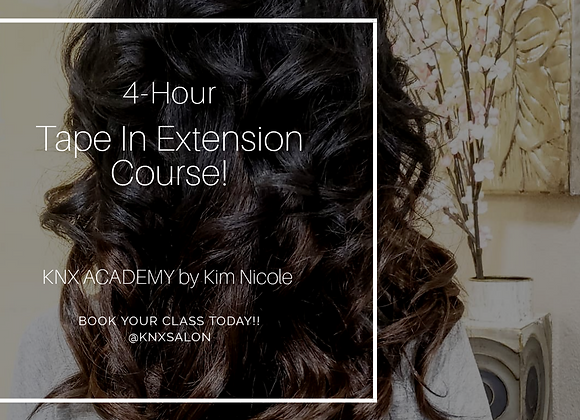 4-HR TAPE IN EXTENSION COURSE