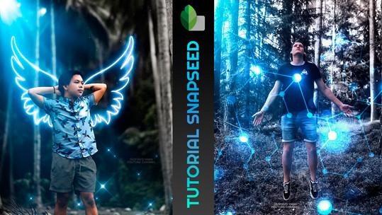 Como editar foto no SNAPSEED mesclando imagens | Dicas & Truques | Google app Editor de foto