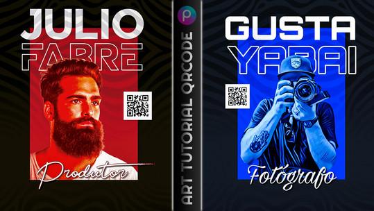 Como fazer arte estilo flyer / banner com QR CODE pelo celular | Como editar foto PicsArt Tutorial