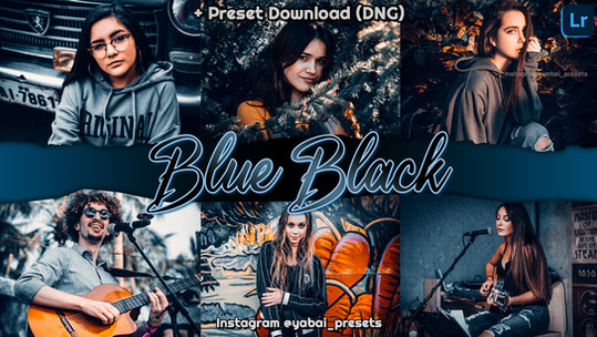 Preset Grátis Lightroom | Filtro BLUE BLACK Premium | Formato DNG, Compatível com iOS, Android e PC