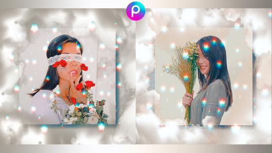 Moldura com Nuvens para Retratos | Como editar foto pelo celular app PicsArt gratuito Android iOS