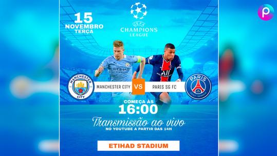 Como fazer um flyer / banner de uma partida de futebol com jogadores e clubes | app gratuito PicsArt
