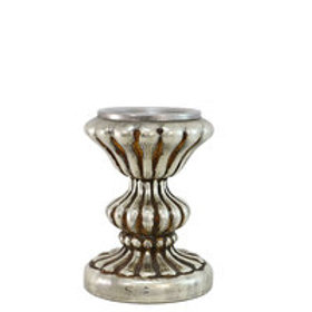 Mercury glass candle stand