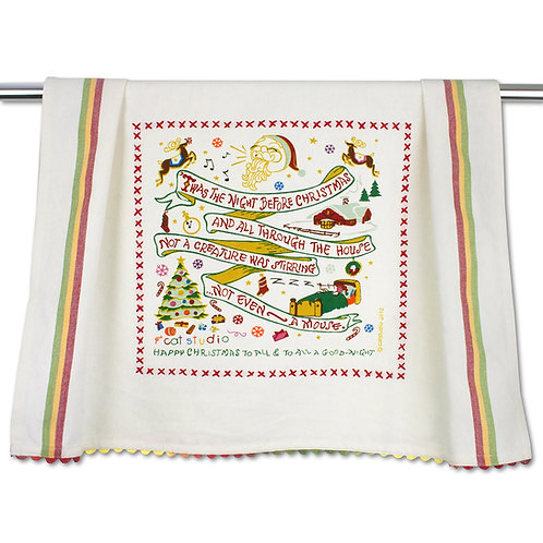 Night Before Christmas Tea Towel