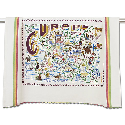 Europe Tea Towel
