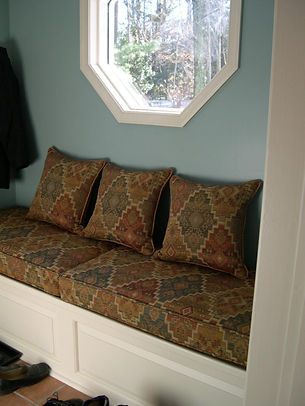 bench cushion, pillow