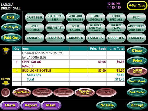 Tab Wizard Food & Beverage POS Systems