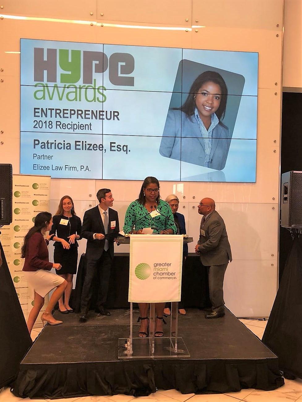 HYPE Miami Entrepreneur Award Recipient Patricia Elizee
