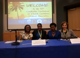 On April 5, 2014, our Partner, Patricia Elizee, participated in the 40th Florida Caribbean Students