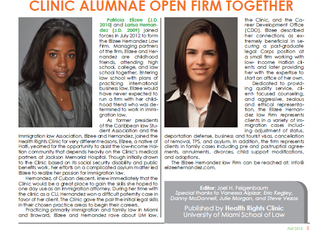 Our partners, Patricia Elizee and Larisa Hernandez, featured in UM Law's newsletter.