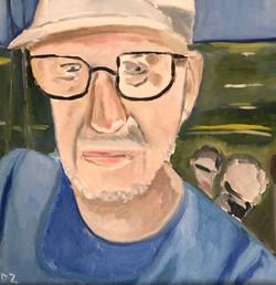 artist on boat: Maine