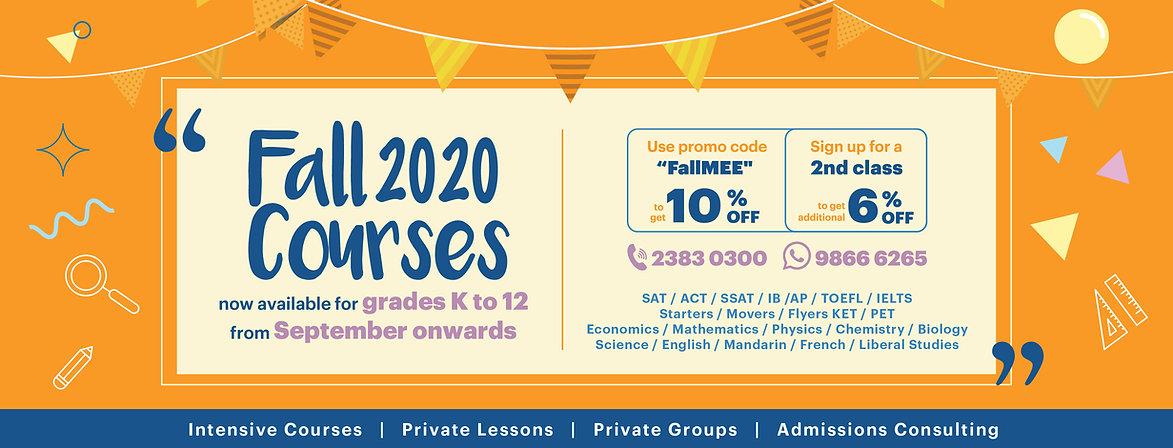 ME Education Fall 2020 courses Facebook&