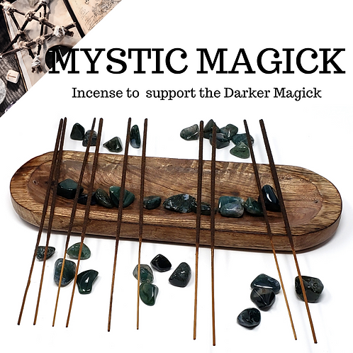 100 Mystic Magick Incense Sticks for the Witch Who Follows the Darker Craft