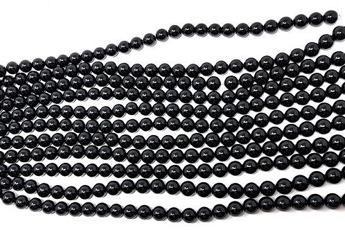 Round Tourmaline Jewelry Making Beads - For Protection, Grounding, Healing