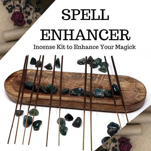 100 Spell Enhancer Magick Incense Sticks - Witchy Incense to Support Your Craft