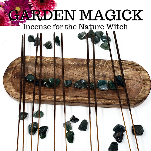 100 Magick Garden Incense Sticks - Beautiful Flowery Scents for the Nature Witch