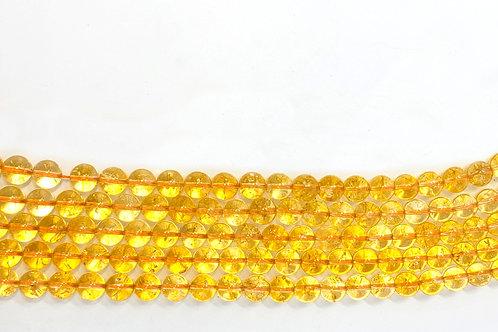 Round Tumbled Citrine Jewelry Making Beads for Manifesting Money and Abundance