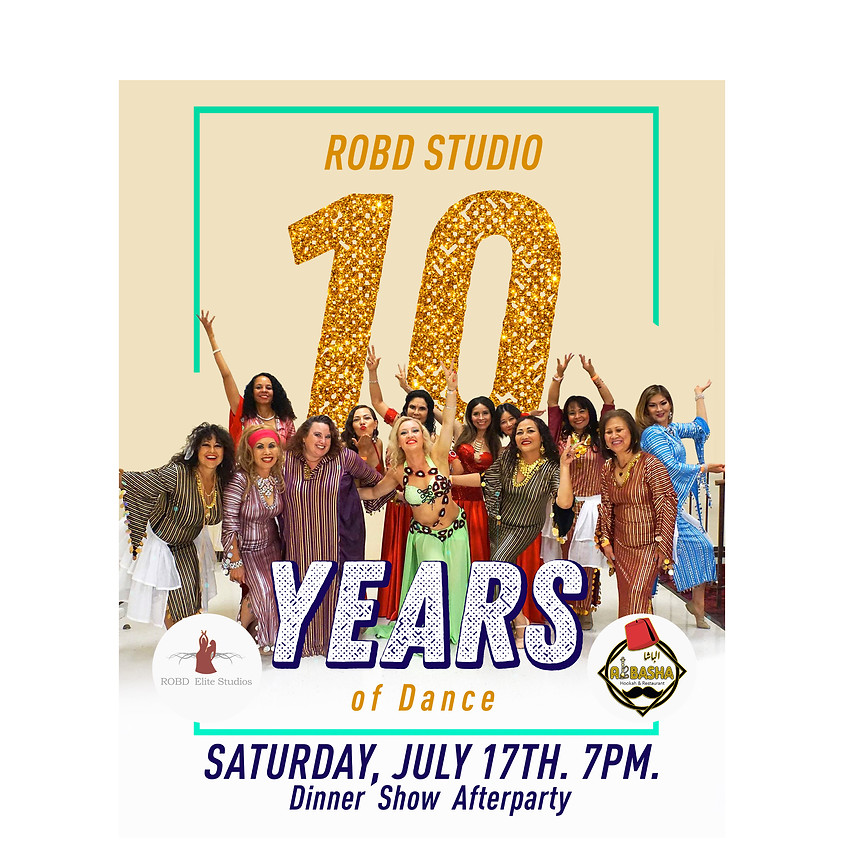 10 Years of Dance Anniversary Dinner Show and Afterparty (Waiting List)