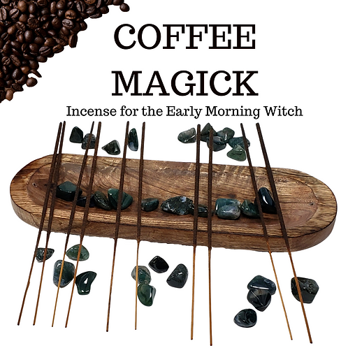 100 Coffee Magick Incense Sticks - Delicious Scents for the Early Morning Witch