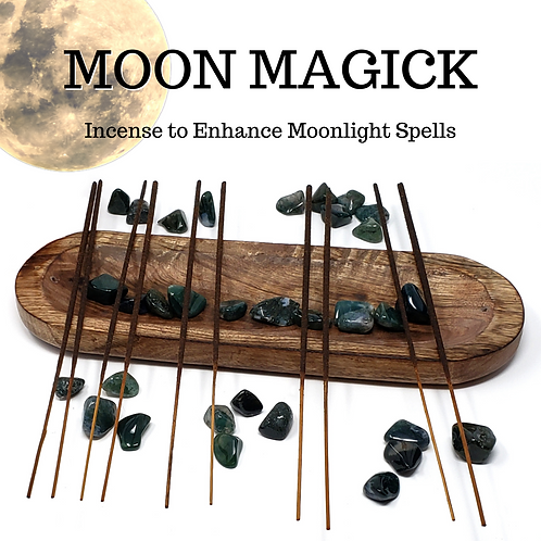 100 Moon Magick Incense Sticks for the Witch Who Follows the Phases of the Moon