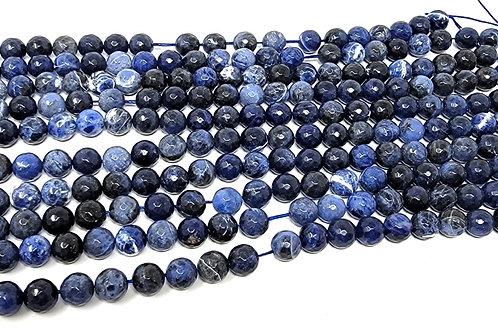 Round Tumbled Sodalite Jewelry Making Beads -For Sleep, Calm, Anti Stress