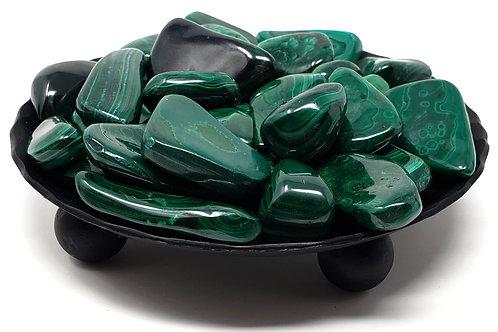 Tumbled Malachite Crystal Stone For Empowerment Of Feminine Energies (3 Stones)