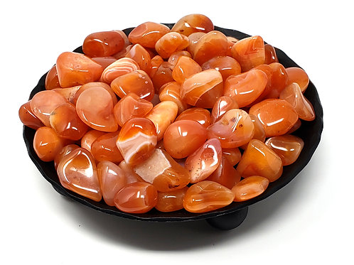 Small Tumbled Carnelian For Creative Spark And Empowerment (9 Stones)