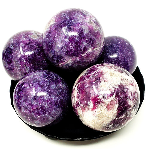 Lepidolite Spheres For Serenity, Peace, And Calm