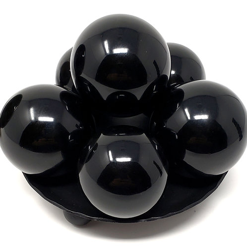 Natural Obsidian Sphere for Powerful Protection and Healing Magick