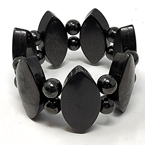 Shungite Bracelet Olive Design - Cell Phone Radiation Protection, and Electrical