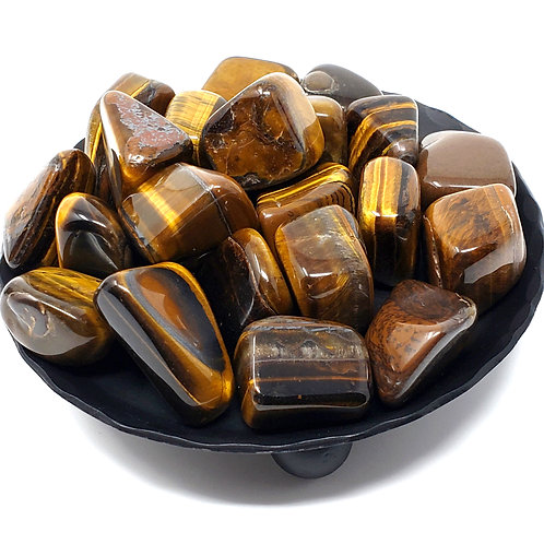 Medium Tumbled Tiger's Eye For Harmonious Courage, Counsel, And Protection